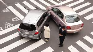 fender bender accident at intersection